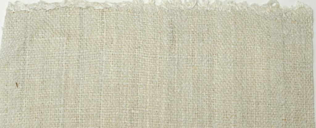 Qualitätsmuster für mittelfeines Bauernleinen - quality sample for medium fine antique linen