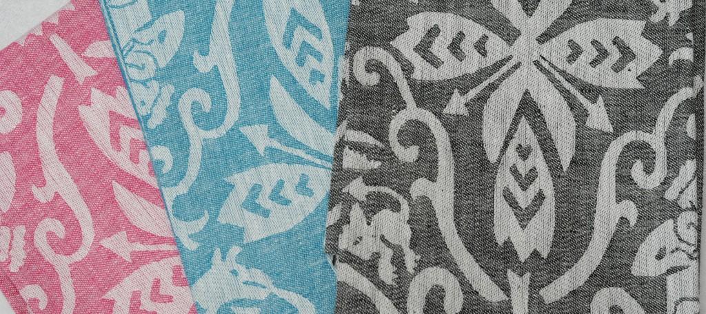 "Handtuch ""Hölle"" Farbkarte: col. Cerise, türkis, schwarz - Towel motif: hell colourcard: col. cerise, turquoise, black"