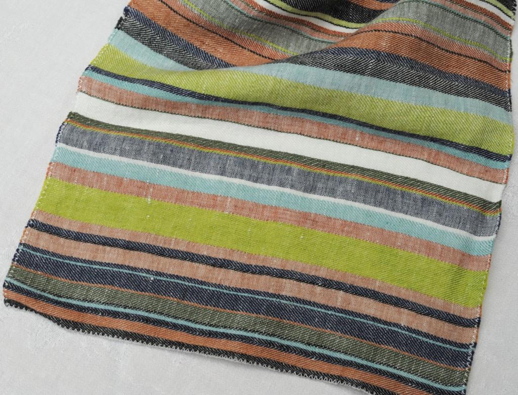 Senda col. Schwarze Streifen 100 % Leinen 310 cm - Senda black stripes 100 % linen 310 cm