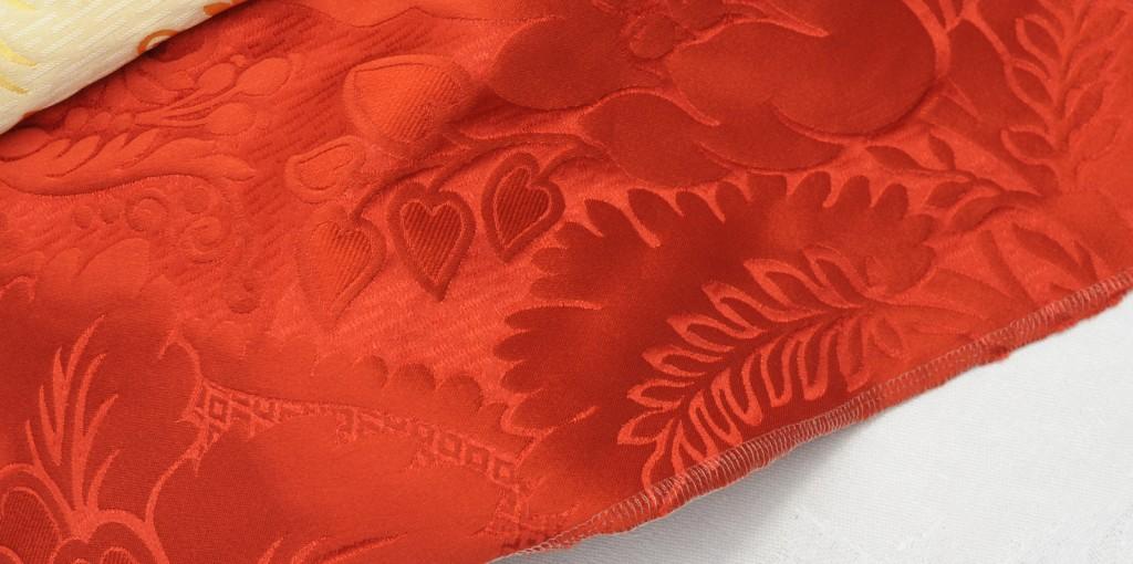 Elisabeta col. red 140 cm 100 % Seide - Elisabeta col. red 140 cm 100 % silk